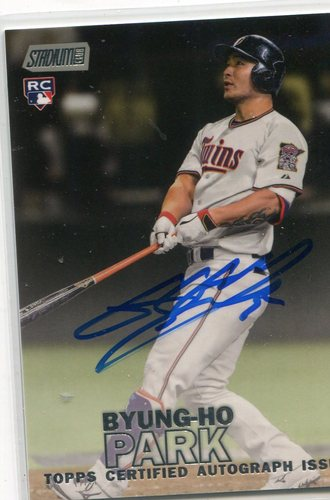 Photo of 2016 Stadium Club Autographs  Byung-Ho Park
