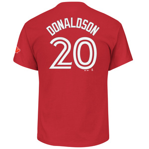 Toronto Blue Jays Josh Donaldson Player T-Shirt Red by Majestic