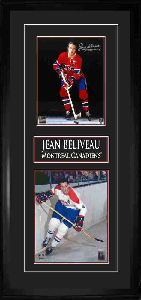 Beliveau,J Signed 8x10 Double Photo Frame Canadiens