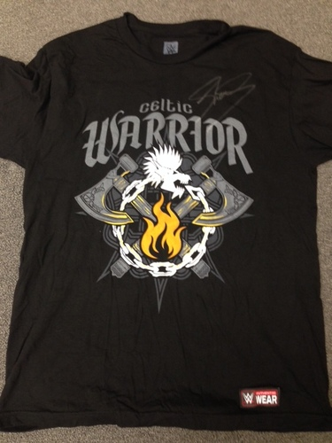 """Photo of Sheamus WORN & SIGNED """"Clear The Way"""" Authentic T-Shirt (RAW - 06/15/15)"""
