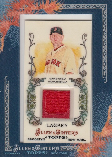 Photo of 2011 Topps Allen and Ginter Relics #JLA John Lackey