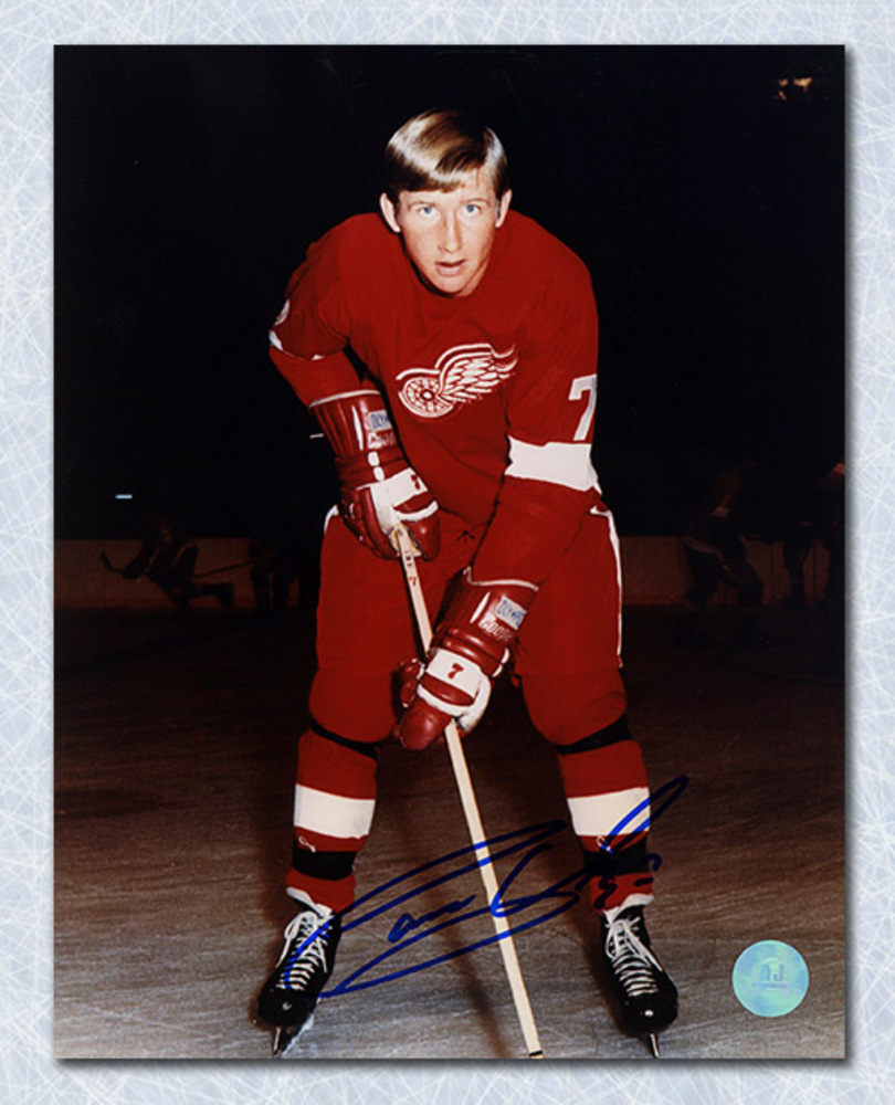Garry Unger Detroit Red Wings Autographed On Ice 8x10 Photo
