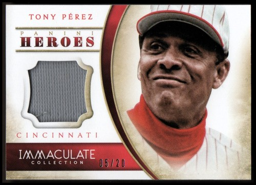 Photo of 2014 Immaculate Collection Immaculate Heroes Materials #21 Tony Perez/20