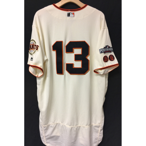 Photo of San Francisco Giants Will Smith 2016 Game-Used Postseason Home jersey (size 50, authenticated NLDS Game #3 and NLDS Game #4 vs Cubs)