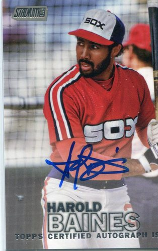 Photo of 2016 Stadium Club Autographs  Harold Baines