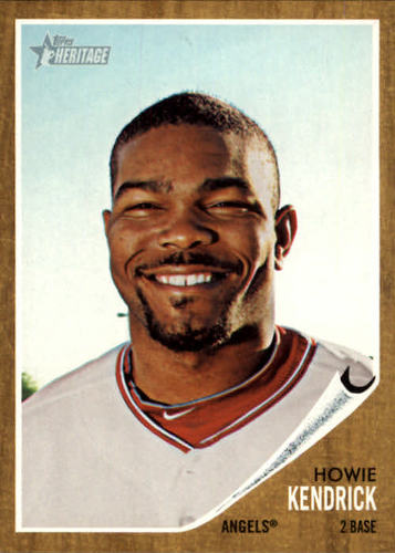 Photo of 2011 Topps Heritage #365 Howie Kendrick -- Nationals post-season