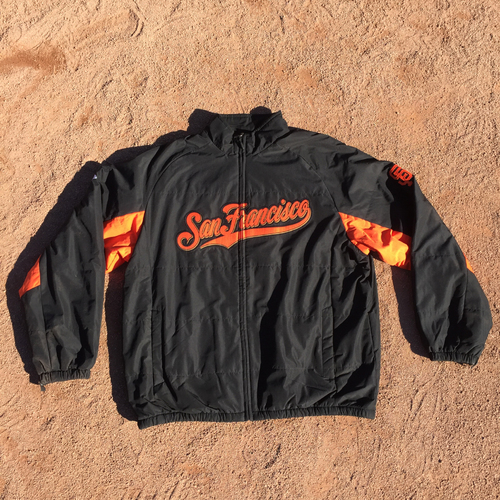 Photo of San Francisco Giants - Team-Issued Jacket - Dave Righetti - 2016 NLDS Game 4 - Cubs @ Giants