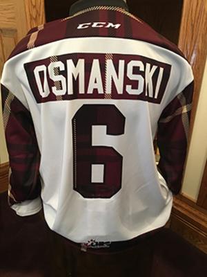 Austin Osmanski (#6) - Game-Worn #PetesPlaidNight Jersey