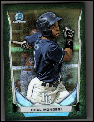 Photo of 2014 Bowman Chrome Prospects Series 2 Black Static Refractors #BCP39 Raul Mondesi