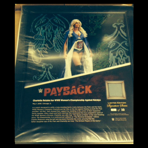 Photo of Charlotte SIGNED Payback 2016 15 x 17 Framed Ring Canvas Photo Collage