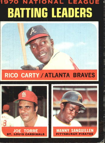 Photo of 1971 Topps #62 NL Batting Leaders/Rico Carty/Joe Torre/Manny Sanguillen