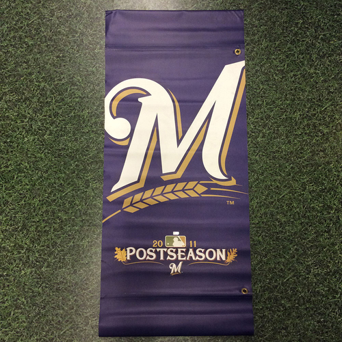 Photo of Milwaukee Brewers 2011 Postseason Navy Plaza Banner