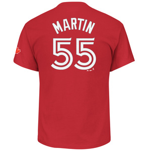 Russell Martin Player T-Shirt Red by Majestic