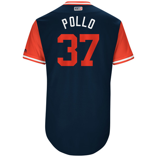 "Photo of Cody ""Pollo"" Allen Cleveland Indians Game-Used Players Weekend Jersey"