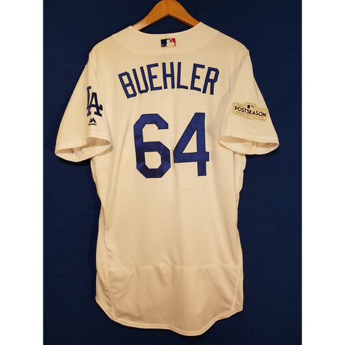 Photo of Walker Buehler Home 2017 Team-Issued Post Season Jersey