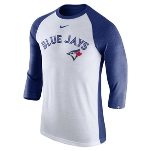 Toronto Blue Jays 3/4 Raglan Tri Blend T-Shirt by Nike