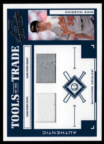 Photo of 2004 Absolute Memorabilia Tools of the Trade Material Combo #97 M.Muss O's Jsy-Pants/250