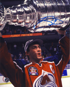 Joe Sakic Colorado Avalanche Autographed 1996 Stanley Cup 8x10 Photo