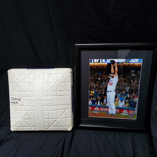Photo of Kershaw's Challenge: Clayton Kershaw Autographed No Hitter Base with Autographed Photo