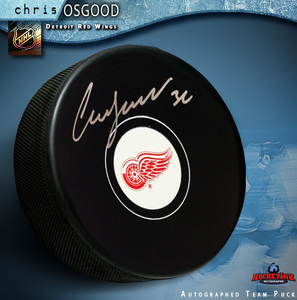 CHRIS OSGOOD Signed Detroit Red Wings Puck