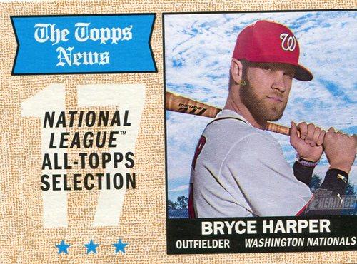 Photo of 2017 Topps Heritage #377 Bryce Harper  -- Nationals post-season