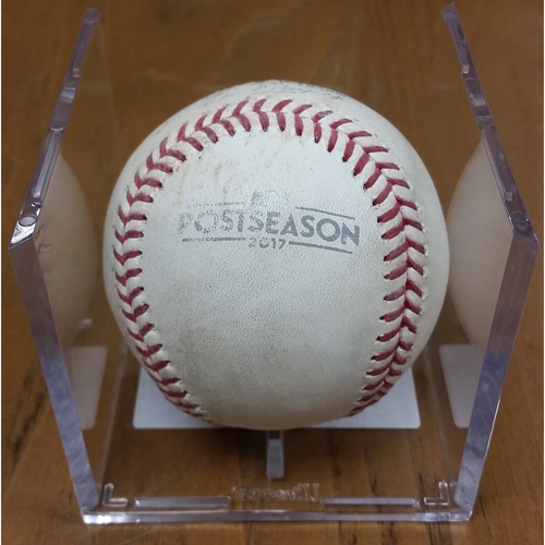 Photo of NLDS Game 5 Game-Used Baseball: Kyle Hendricks Strikes Out Victor Robles
