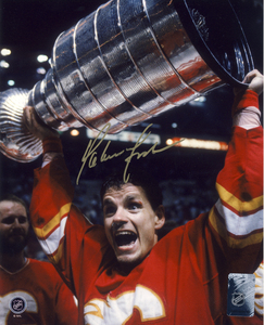 Hakan Loob Calgary Flames Autographed 1989 Stanley Cup 8x10 Photo