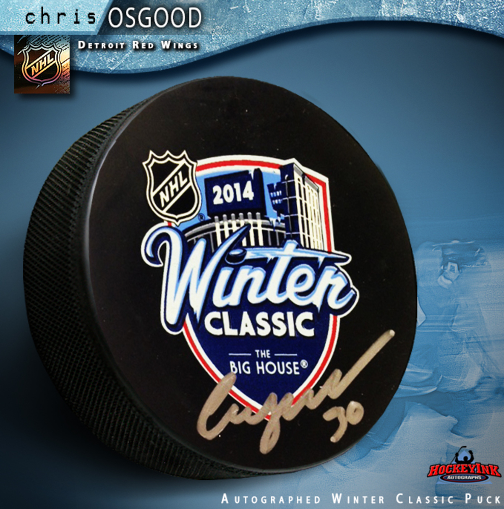 CHRIS OSGOOD Signed 2014 NHL Winter Classic Puck