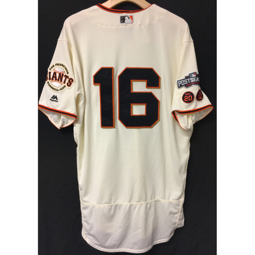 Photo of San Francisco Giants Angel Pagan 2016 Game-Used Postseason Home jersey (size 46, authenticated NLDS Game #3 and NLDS Game #4 vs Cubs)