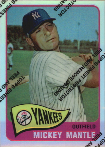 Photo of 1996 Topps Mantle Finest Refractors #15 Mickey Mantle 1965 Topps