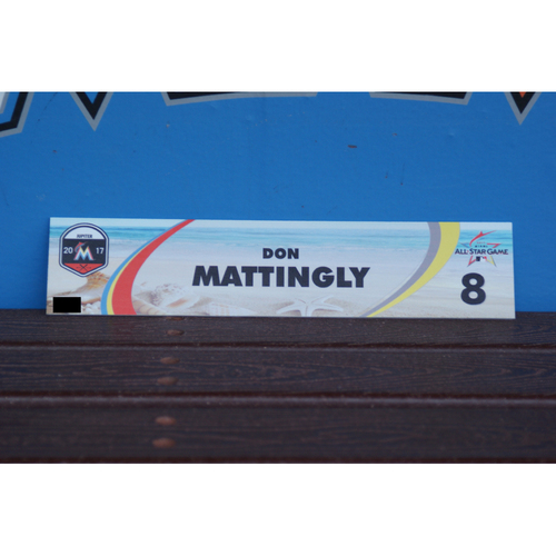 Photo of Don Mattingly Spring Training Locker Tag