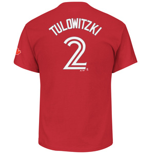 Toronto Blue Jays Troy Tulowitzki Player T-Shirt Red by Majestic