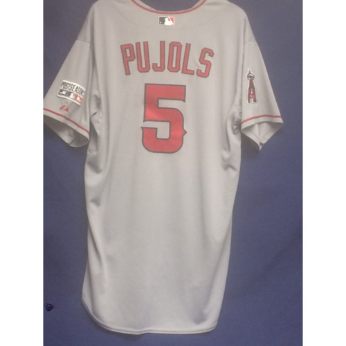 Photo of Albert Pujols Game-Used 2014 Post Season Road Home Run Jersey
