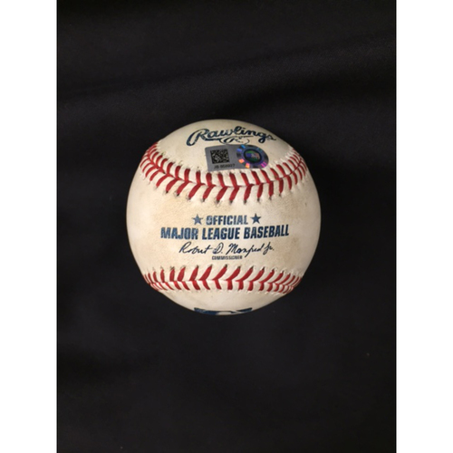 Photo of Joey Votto -- Game-Used Ball, 8th Inning Votto Single -- Recorded the 1,499th Hit of Career -- Cubs vs. Reds on July 2, 2017