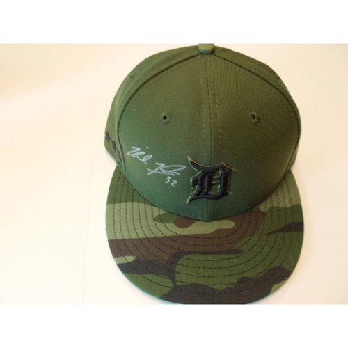 Photo of Autographed Team-Issued Michael Fulmer Memorial Day Cap