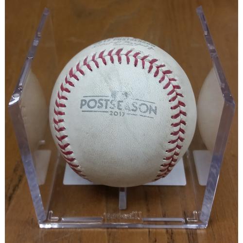 Photo of NLDS Game 5 Game-Used Baseball: Bryce Harper Single, Jayson Werth Single