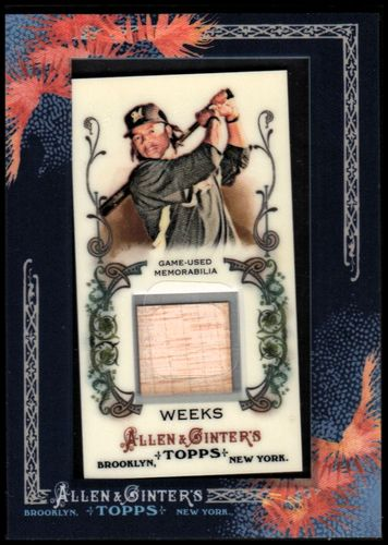 Photo of 2011 Topps Allen and Ginter Relics #RW1 Rickie Weeks Bat