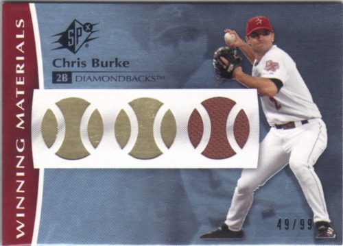 Photo of 2008 SPx Winning Materials Baseball 99 #CH Chris Burke