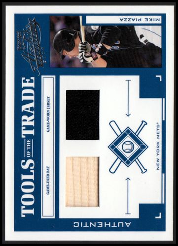 Photo of 2004 Absolute Memorabilia Tools of the Trade Material Combo #101 M.Piazza Mets Bat-Jsy/250