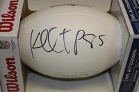 PATRIOTS - KENBRELL THOMPKINS SIGNED PANEL BALL W/ PATRIOTS CHARITABLE FOUNDATION LOGO
