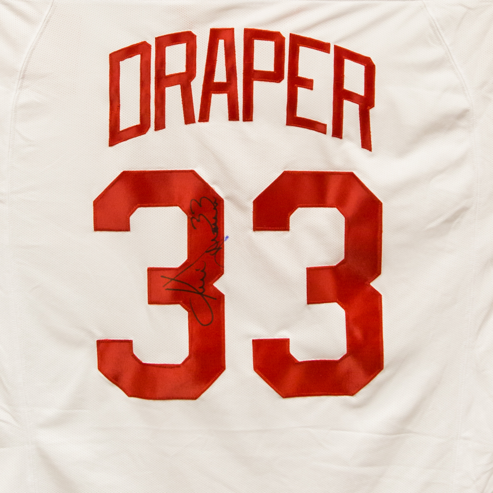 Autographed Kris Draper Jersey from Nicklas Lidstrom Jersey Retirement Night - Detroit Red Wings