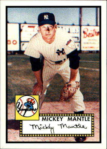 Photo of 2006 Topps Rookie of the Week #25 Mickey Mantle 1952