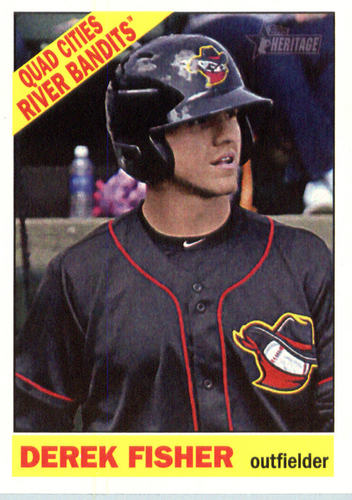 Photo of 2015 Topps Heritage Minors #38 Derek Fisher -- Astros post-season