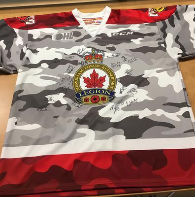 Team Autographed camo jersey