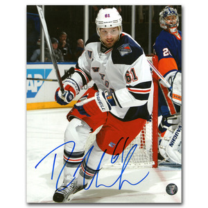 Rick Nash Autographed New York Rangers 2014 NHL Stadium Series 8X10 Photo