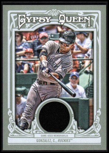 Photo of 2013 Topps Gypsy Queen Relics #CG Carlos Gonzalez