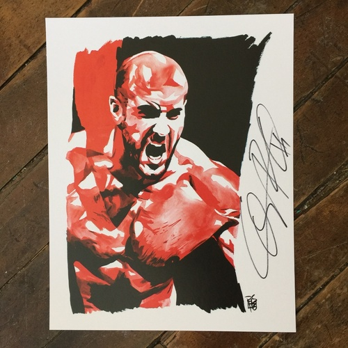 Photo of Cesaro SIGNED 11 x 14 Rob Schamberger Print