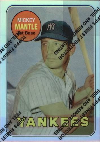 Photo of 1996 Topps Mantle Finest Refractors #19 Mickey Mantle 1969 Topps