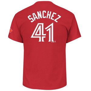 Aaron Sanchez Player T-Shirt Red by Majestic