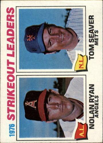 Photo of 1977 Topps #6 Strikeout Leaders/Nolan Ryan/Tom Seaver